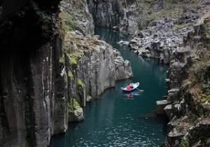 River gorge in Nishi-Usuki-Gun, Miyazaki Prefecture