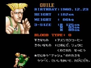 Guile Profile Japanese