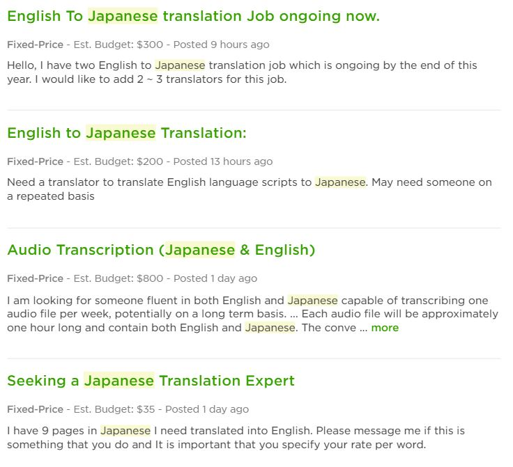 Becoming A Japanese Translator - Finding Work 10