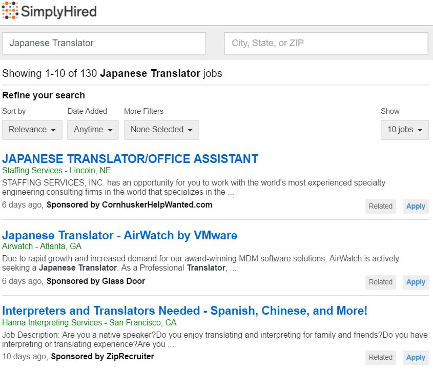 Becoming A Japanese Translator - Finding Work 19