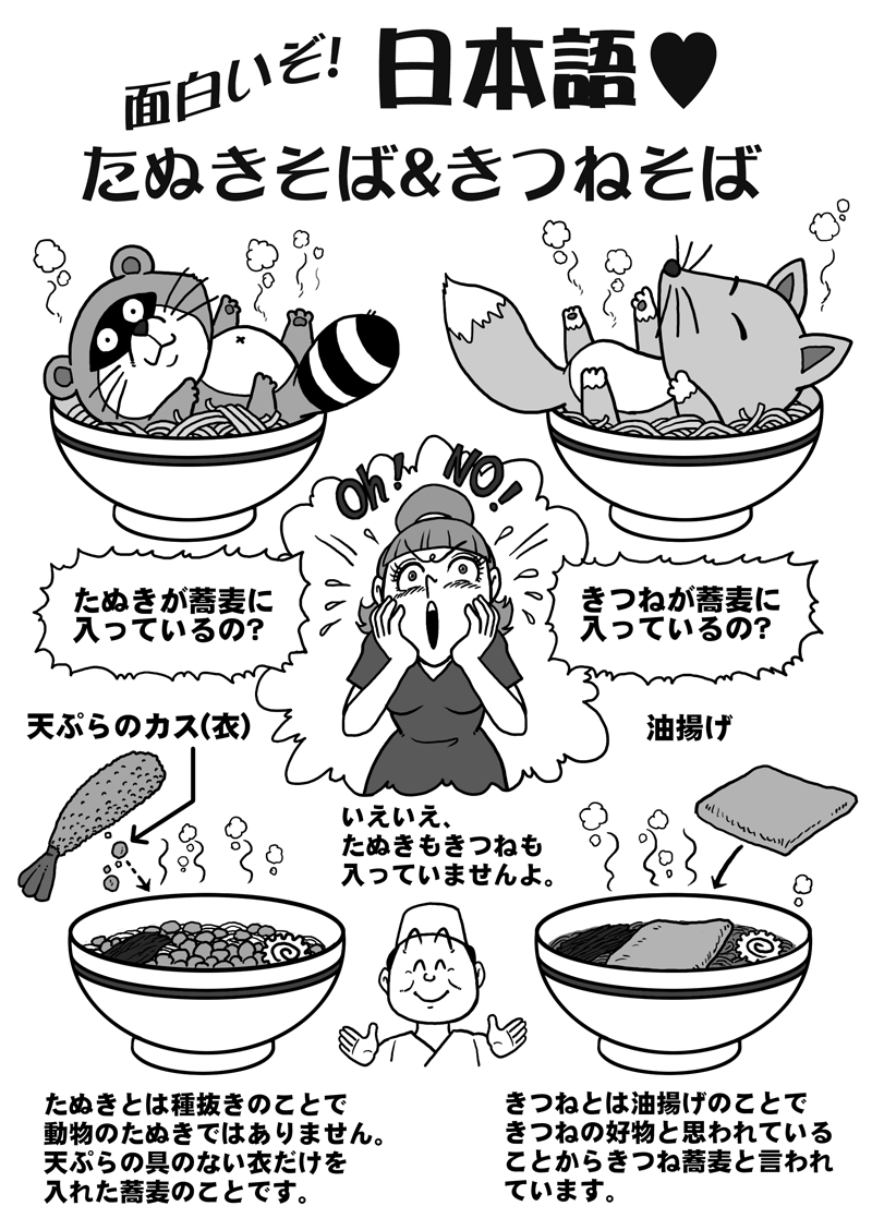 Why do Japanese put Fox and Raccoon Dog in their Soba?